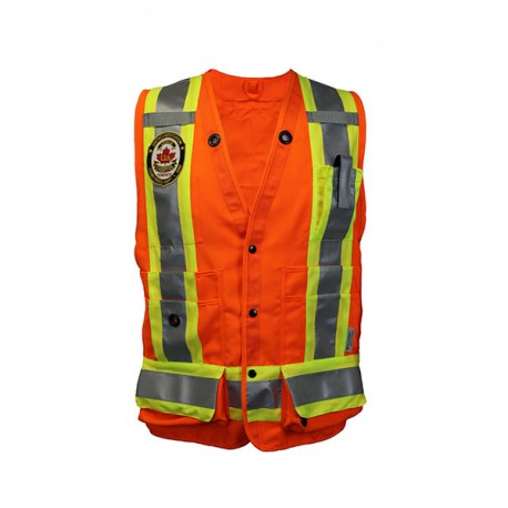 HI-VIZ SURVEYOR'S SAFETY VEST