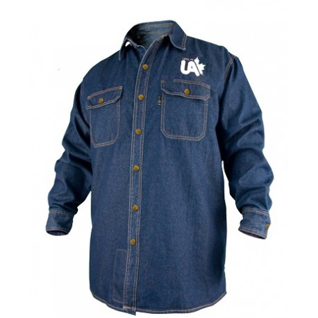 FR Cotton Work Shirt Denim Long Sleeve