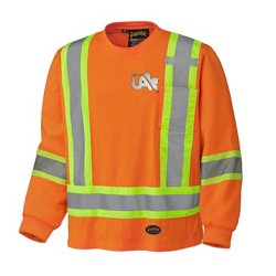 FR ORANGE LONG-SLEEVED SAFETY T-SHIRT
