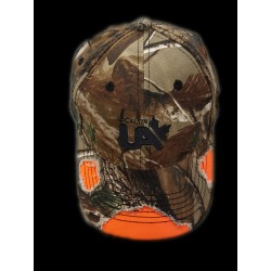 Camouflage and Orange Hat